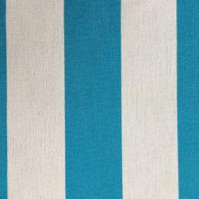 Toldo 307 Turquoise/Wit gestreept - Claassen Stofferingen